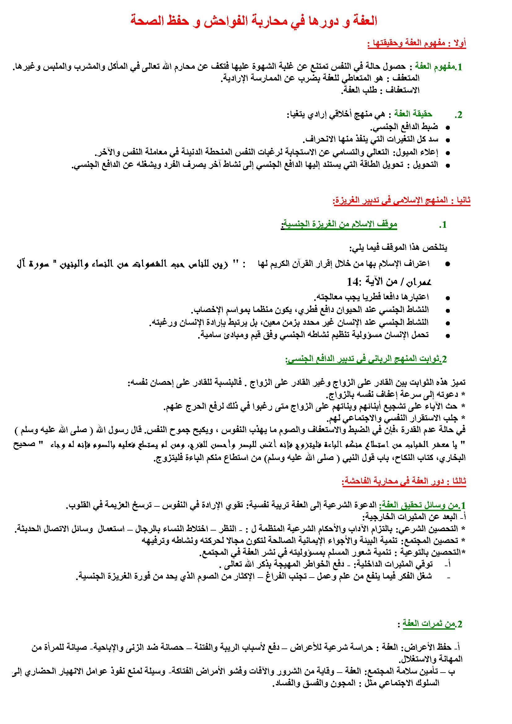 دروس التربية الإسلامية