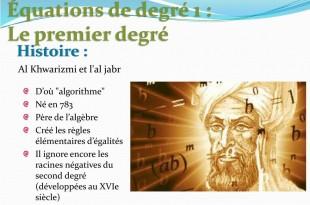 Equation du premier degré avec les Grecs